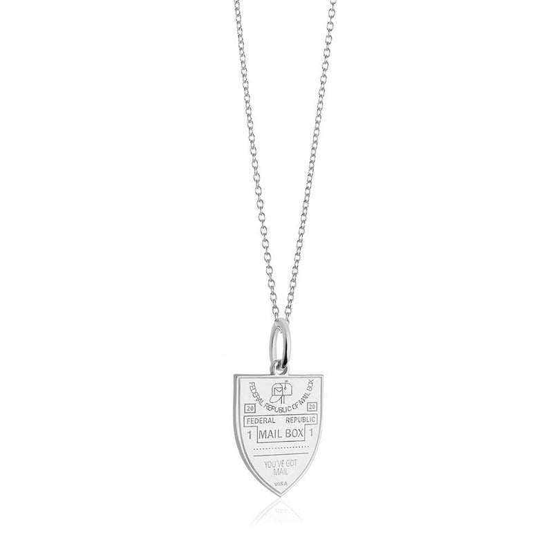 PRE ORDER: Sterling Silver Mailbox Passport Stamp Charm (SHIPS LATE FEB.)