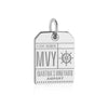 Silver Martha's Vineyard Charm, MVY Luggage Tag - JET SET CANDY
