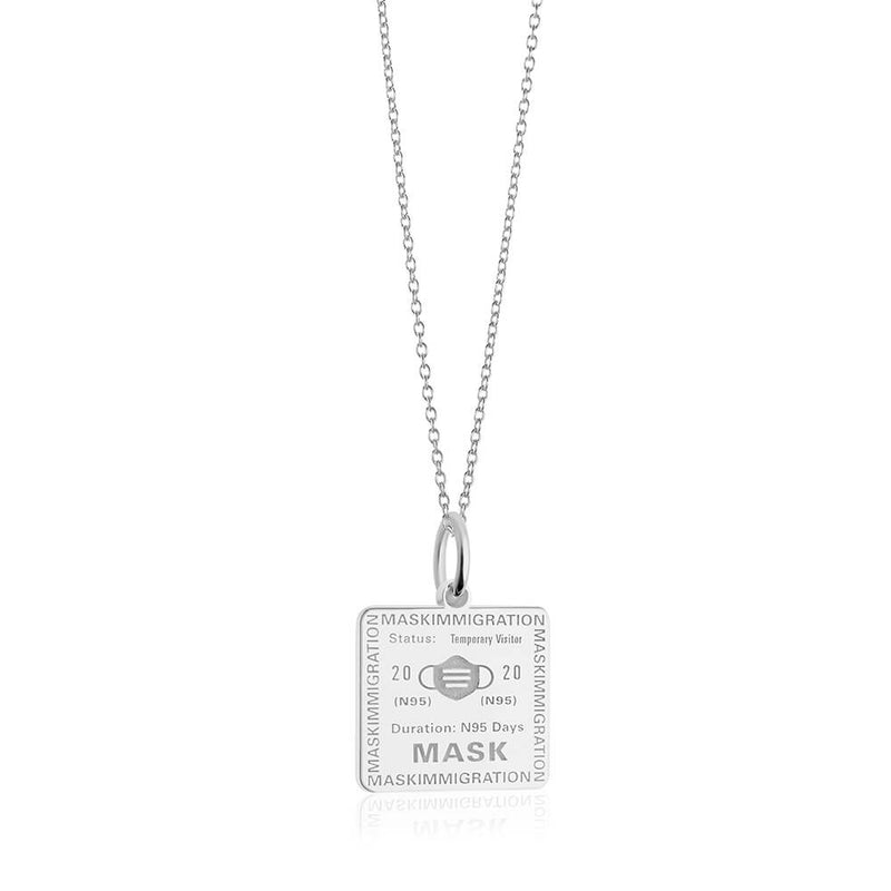 PRE ORDER: Sterling Silver Mask Passport Stamp Charm (SHIPS MID APRIL)