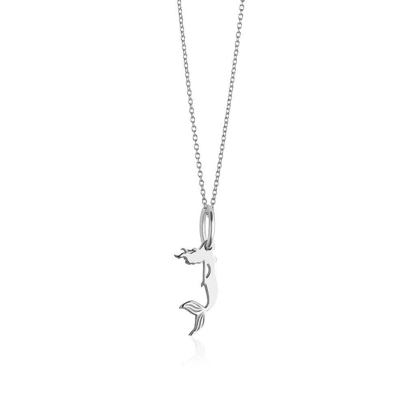 Mini Silver Mermaid Necklace - JET SET CANDY