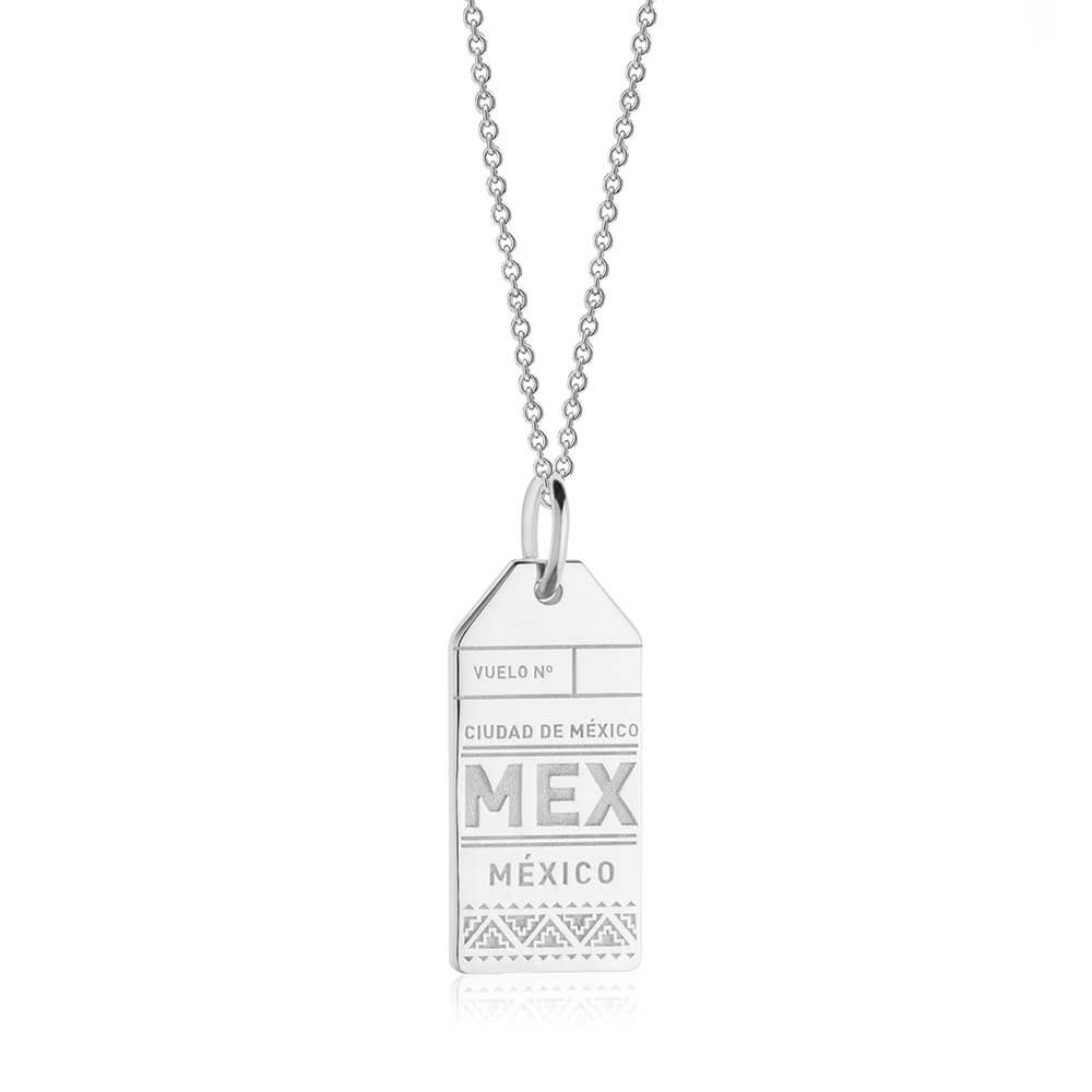 Silver Mexico Charm, MEX Luggage Tag - JET SET CANDY