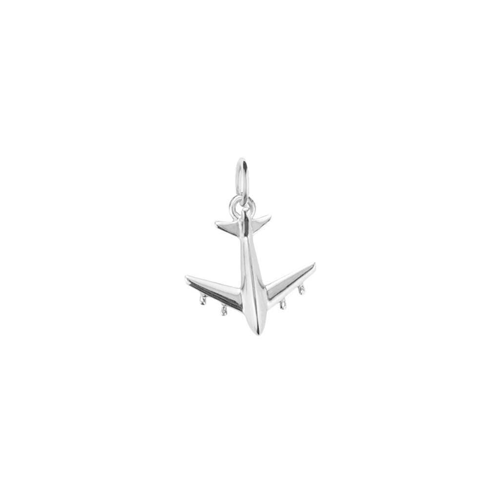 Silver Airplane Charm, Mini - JET SET CANDY