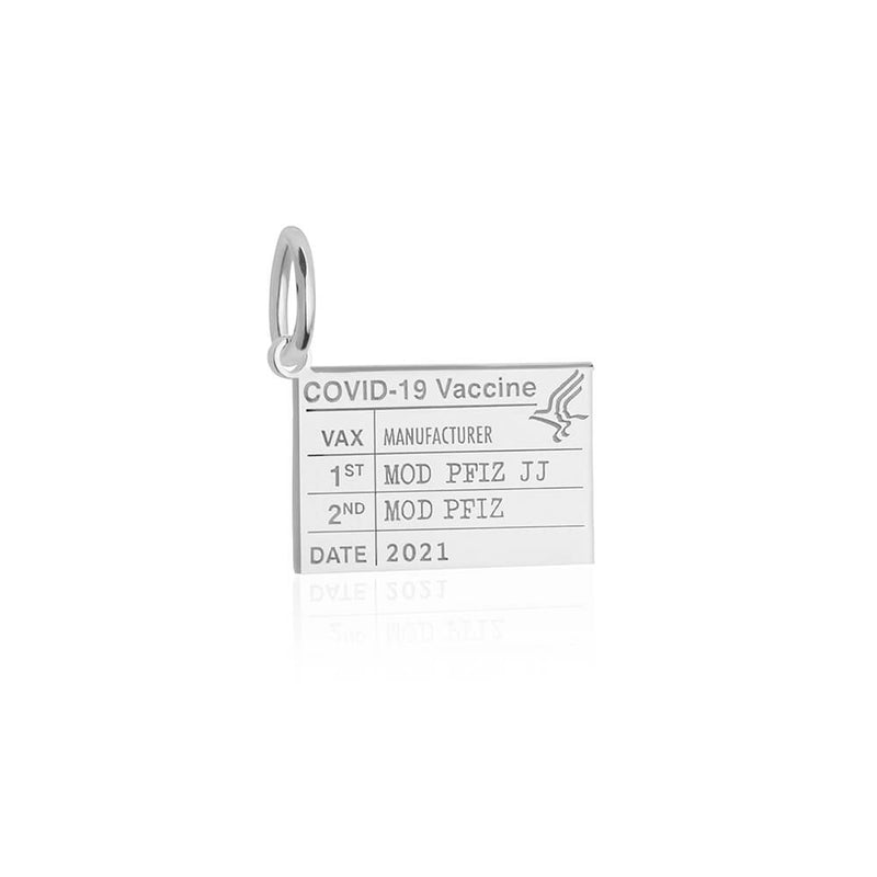 Silver Mini Vaccine Card Charm (SHIPS LATE JUNE)