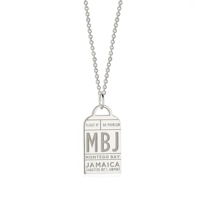 Silver Montego Bay Charm, Caribbean Luggage Tag - JET SET CANDY