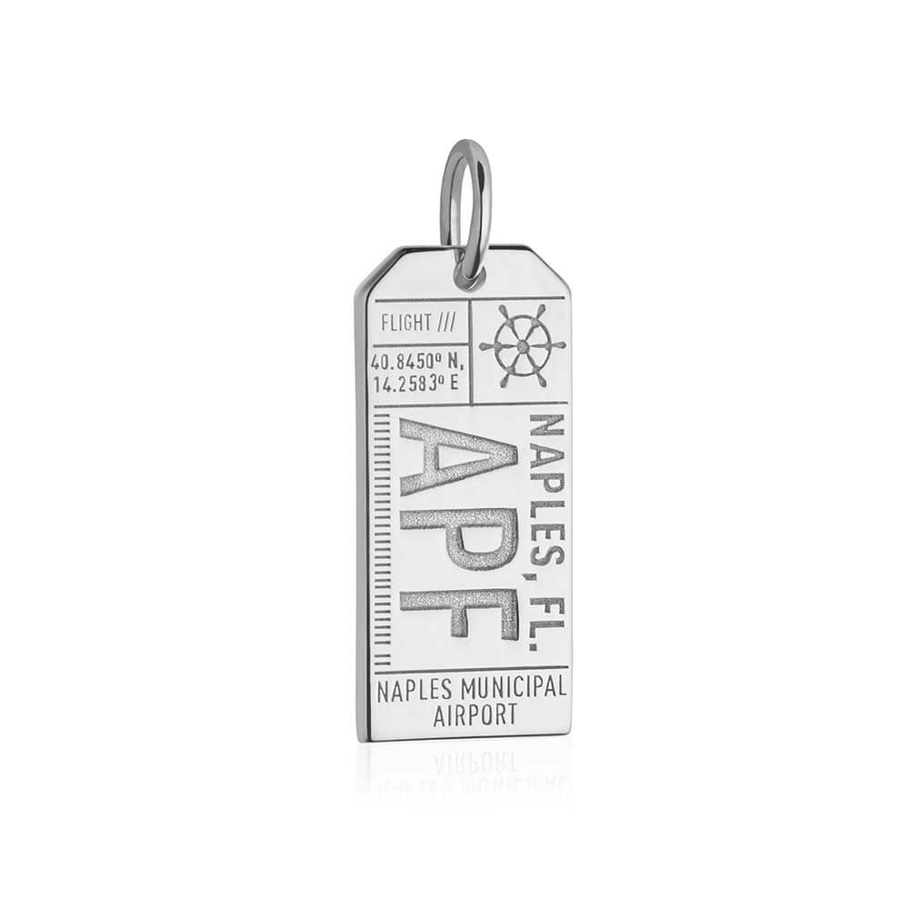 Silver Florida Charm, APF Naples Luggage Tag - JET SET CANDY