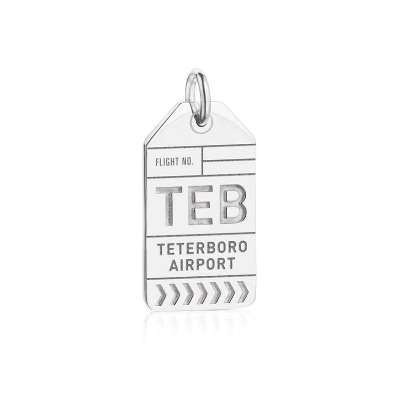 Silver USA Charm, TEB Teterboro Luggage Tag - JET SET CANDY