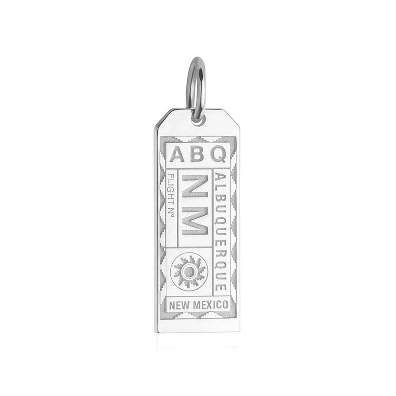 Silver USA Charm, ABQ Albuquerque Luggage Tag - JET SET CANDY