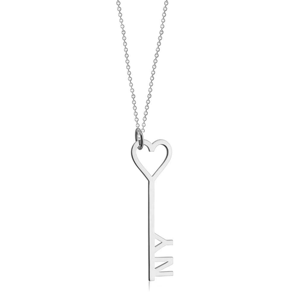 Sterling Silver I Love New York Key & Heart Charm - JET SET CANDY