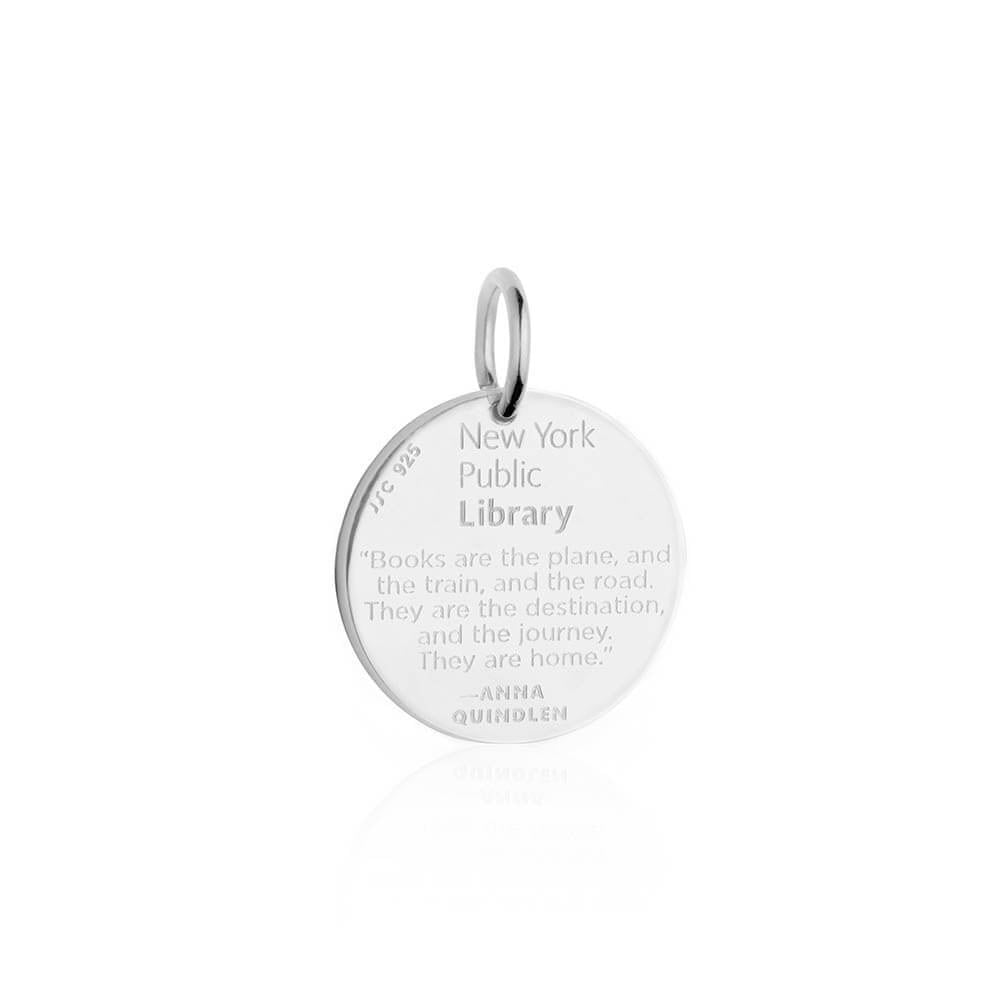 Silver New York Public Library Charm - JET SET CANDY