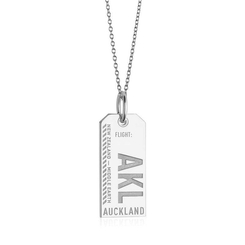 Silver New Zealand Charm, AKL Auckland Luggage Tag (BACK-ORDER-SHIPS MAY) - JET SET CANDY