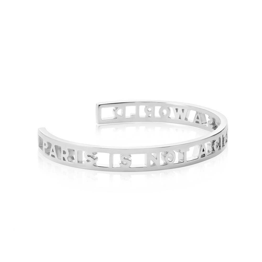 Silver Cutout Paris Cuff Bracelet - JET SET CANDY