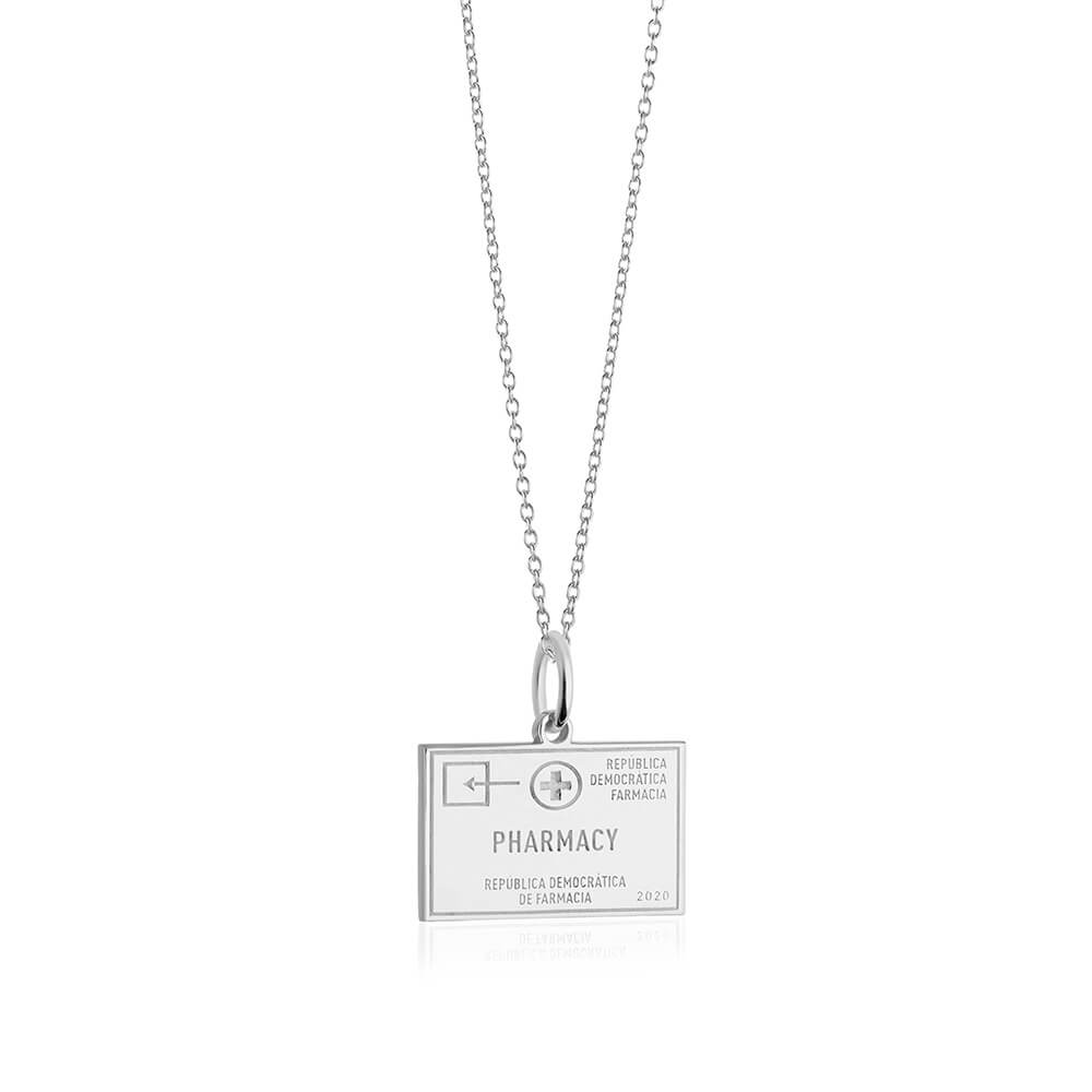 PRE ORDER: Sterling Silver Pharmacy Passport Stamp Charm (SHIPS LATE FEB.)