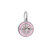 Silver Mini Pink Enamel Compass Charm (SHIPS JUNE) - JET SET CANDY