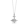 Sterling Silver Propeller Airplane Charm - JET SET CANDY