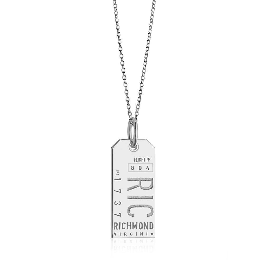Silver Virginia Charm, RIC Richmond Luggage Tag Charm - JET SET CANDY