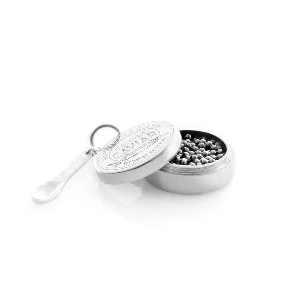 Silver Russian Caviar Charm - JET SET CANDY