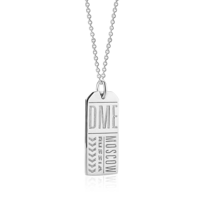 Silver Russia Charm, DME Moscow Luggage Tag - JET SET CANDY