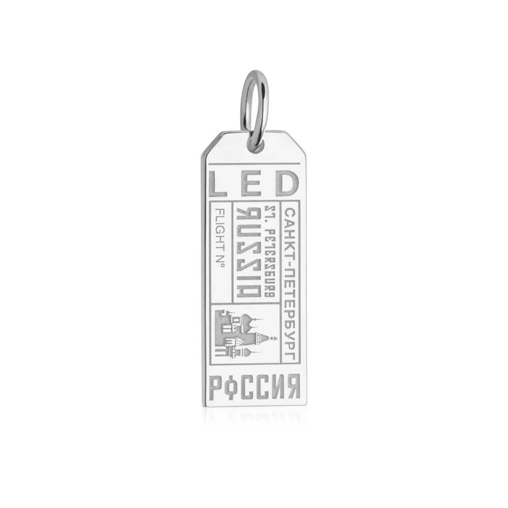 Silver Russia Charm, LED Saint Petersburg Luggage Tag - JET SET CANDY