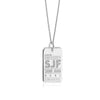 Sterling Silver St. John SJF Luggage Tag Charm - JET SET CANDY