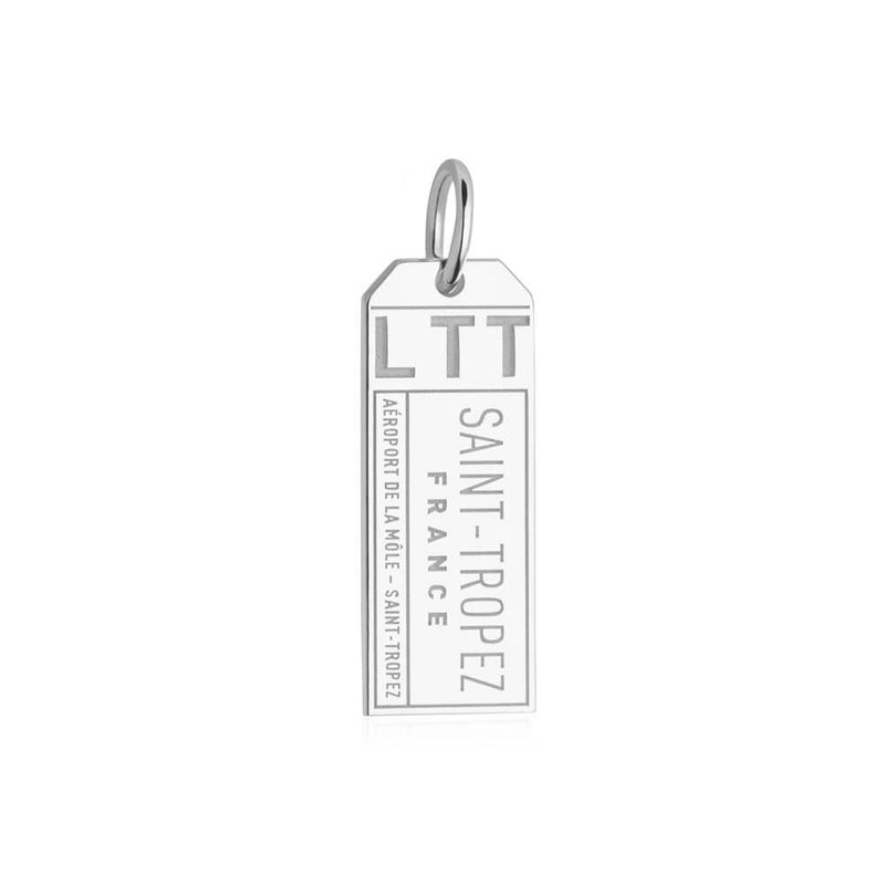 Silver France Charm, LTT Saint Tropez Luggage Tag - JET SET CANDY