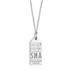 Silver California Charm, SNA Santa Ana Luggage Tag - JET SET CANDY
