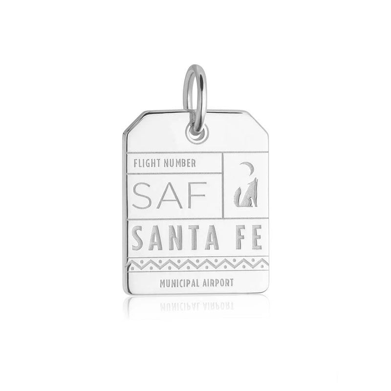 Silver USA Charm, SAF Santa Fe Luggage Tag - JET SET CANDY