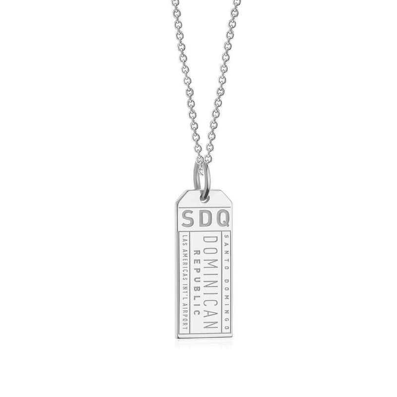 Silver Charm, SDQ Santo Domingo Luggage Tag - JET SET CANDY
