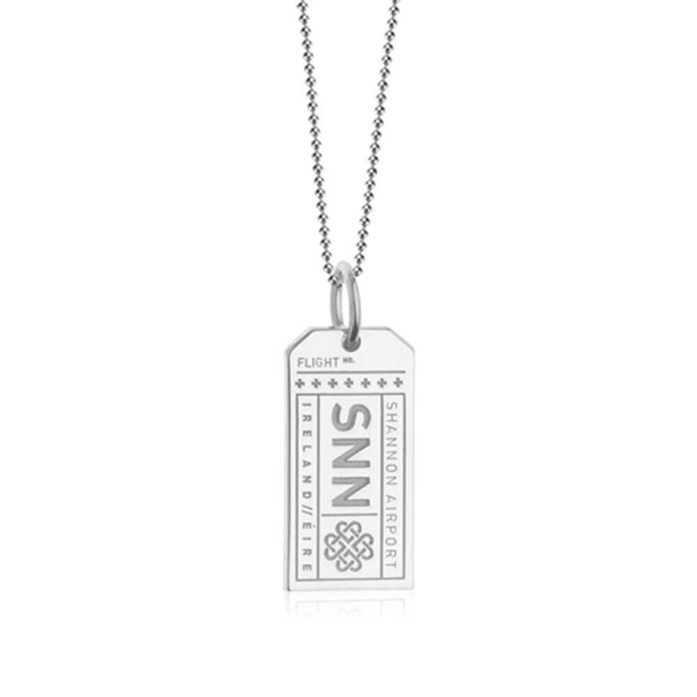 Silver Ireland Charm, SNN Shannon Luggage Tag (SHIPS JUNE) - JET SET CANDY