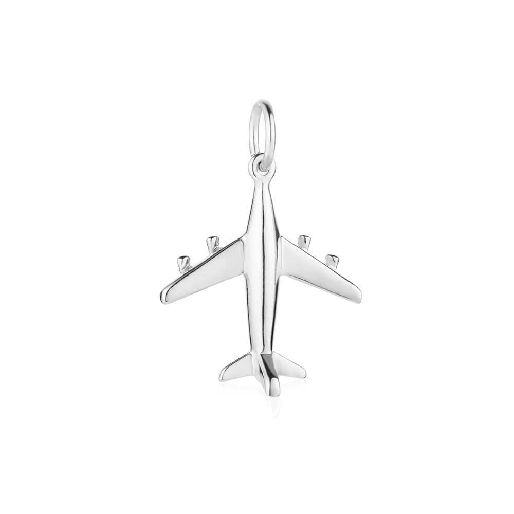 Silver Airplane Charm, Small (BACK ORDER-SHIPS LATE OCTOBER) - JET SET CANDY
