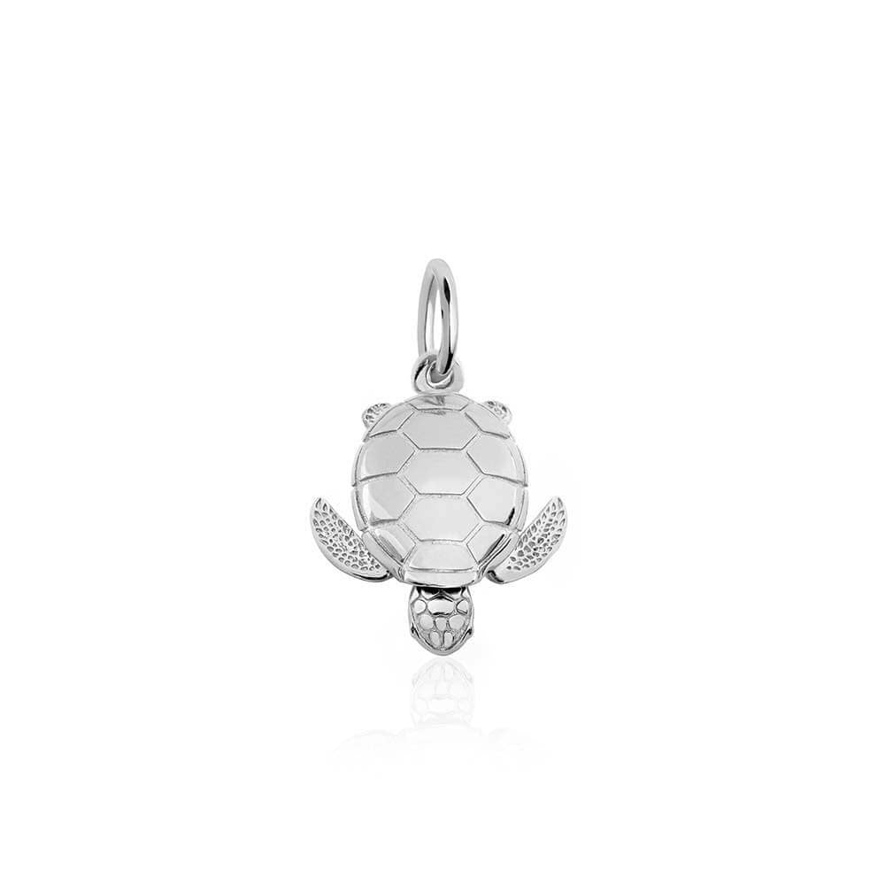 Small Sterling Silver Sea Turtle Charm (BACK ORDER-SHIPS EARLY MARCH) - JET SET CANDY