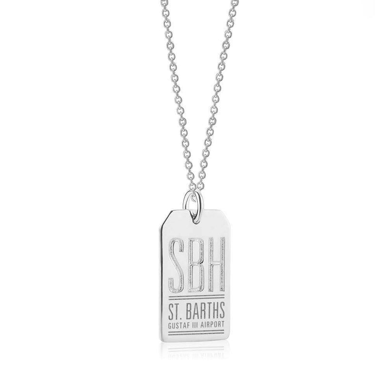 Silver St. Barths Charm, SBH Luggage Tag - JET SET CANDY