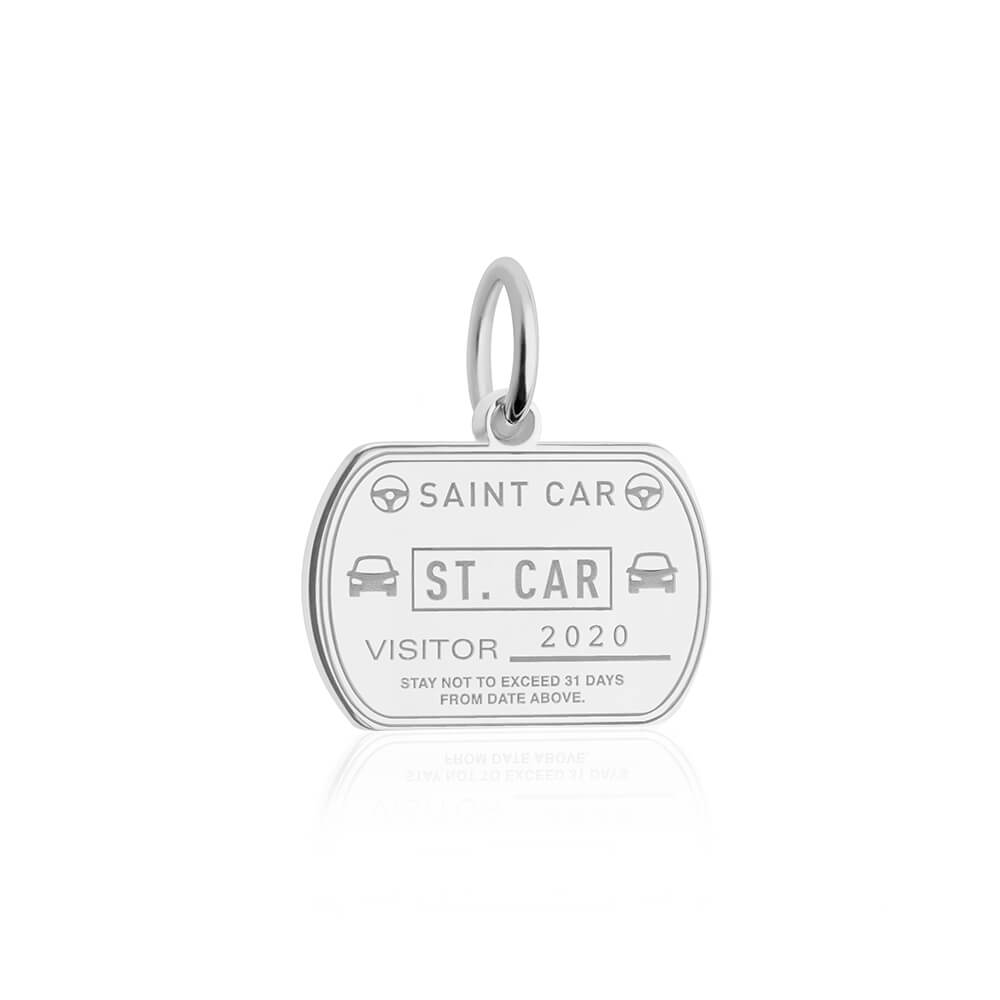 Sterling Silver St. Car Passport Stamp Charm
