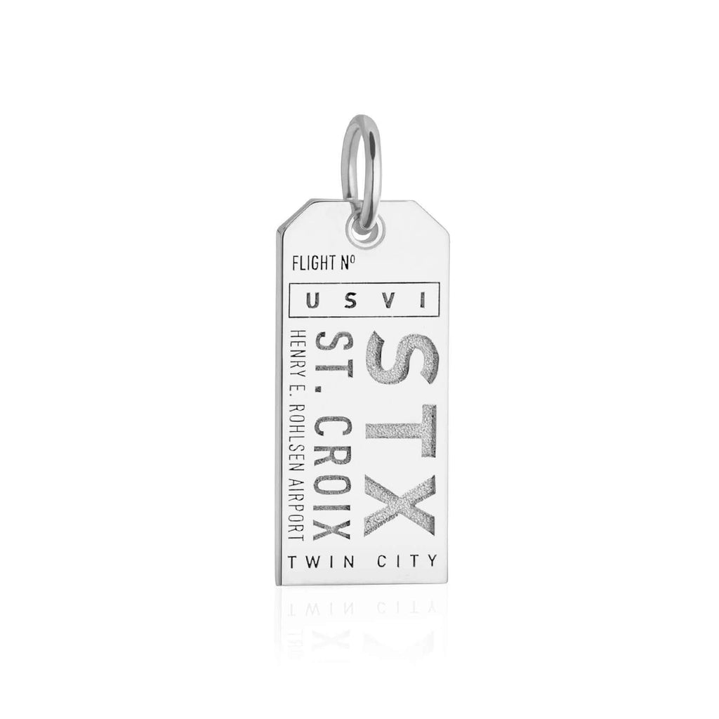 Silver Caribbean Charm, STX St. Croix Luggage Tag - JET SET CANDY