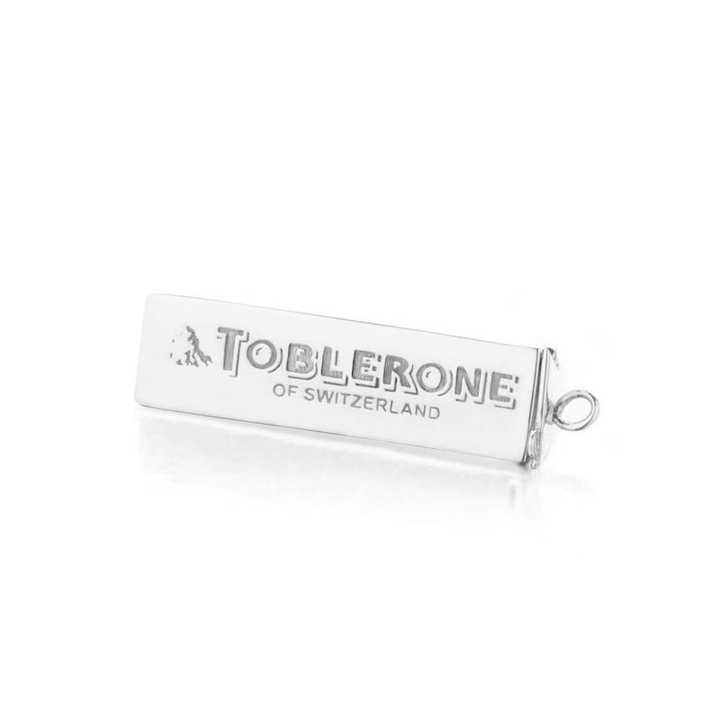 Sterling Silver Chocolate Charm, Swiss Toblerone - JET SET CANDY