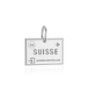 Sterling Silver Charm, Switzerland Passport Stamp