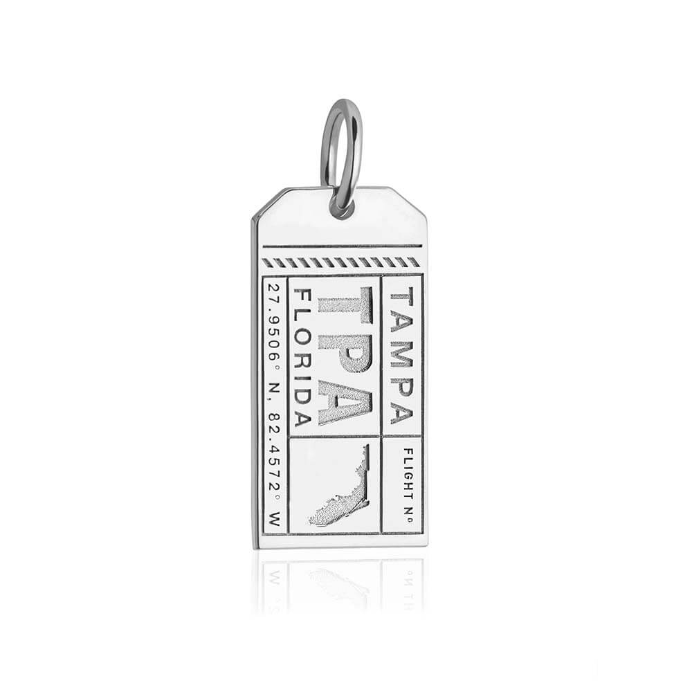 Silver Florida Charm, TPA Tampa Luggage Tag (SHIPS JUNE) - JET SET CANDY