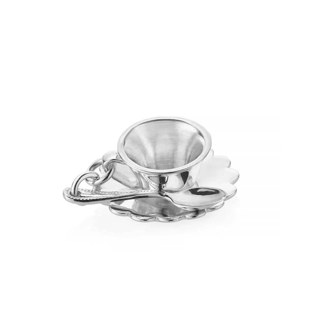 Silver London Charm, Tea Cup - JET SET CANDY