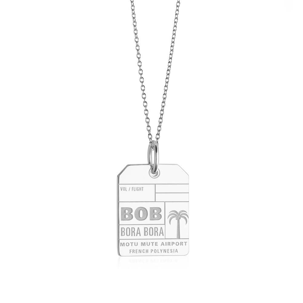 Silver Travel Charm, BOB Bora Bora Luggage Tag - JET SET CANDY