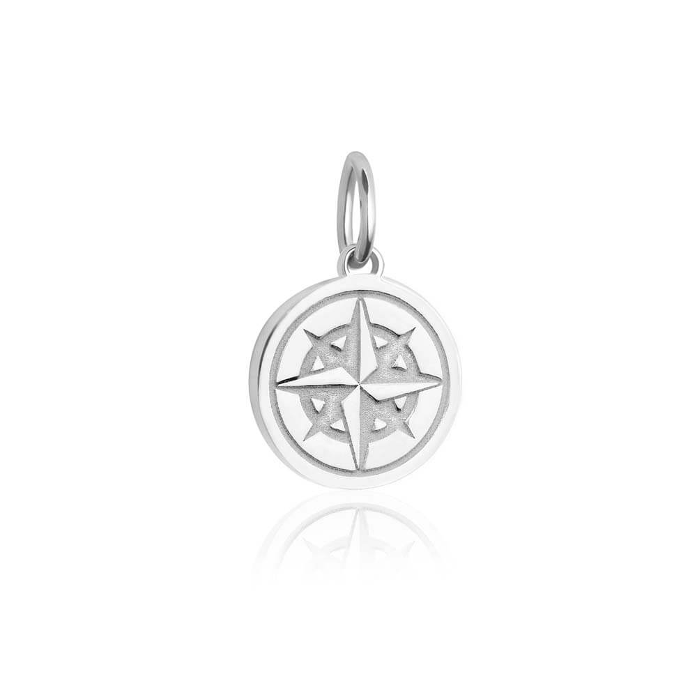 GWP-Mini Silver Tolkien Compass Charm - JET SET CANDY