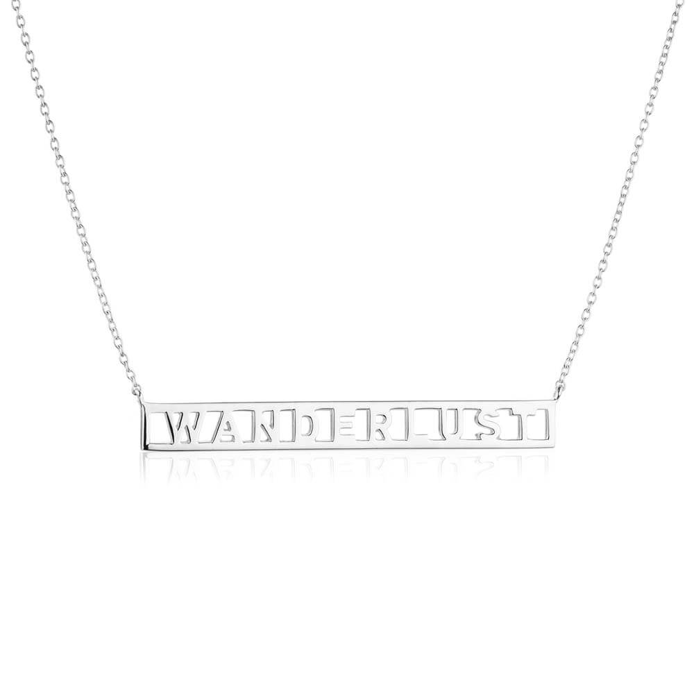 Sterling Silver Wanderlust Necklace - JET SET CANDY