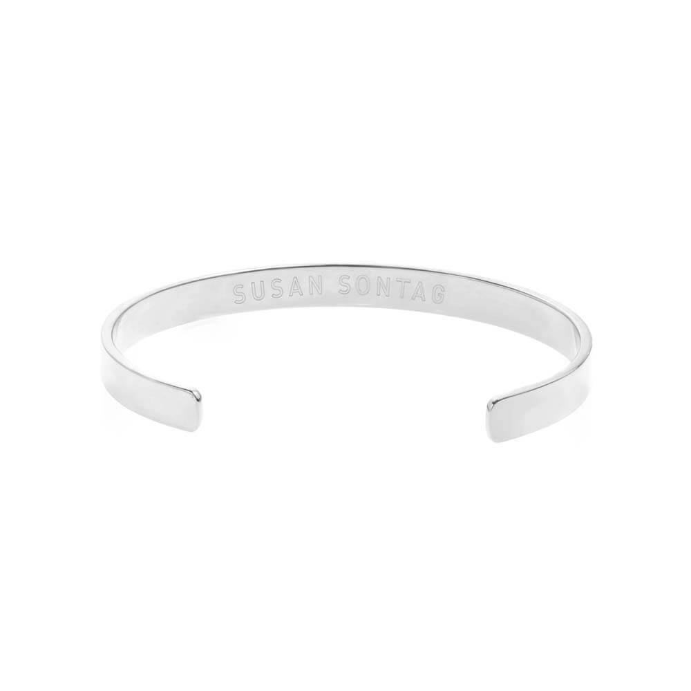 "Silver Inspirational Cuff ""I Haven't Been Everywhere But It's On My List"" - JET SET CANDY"