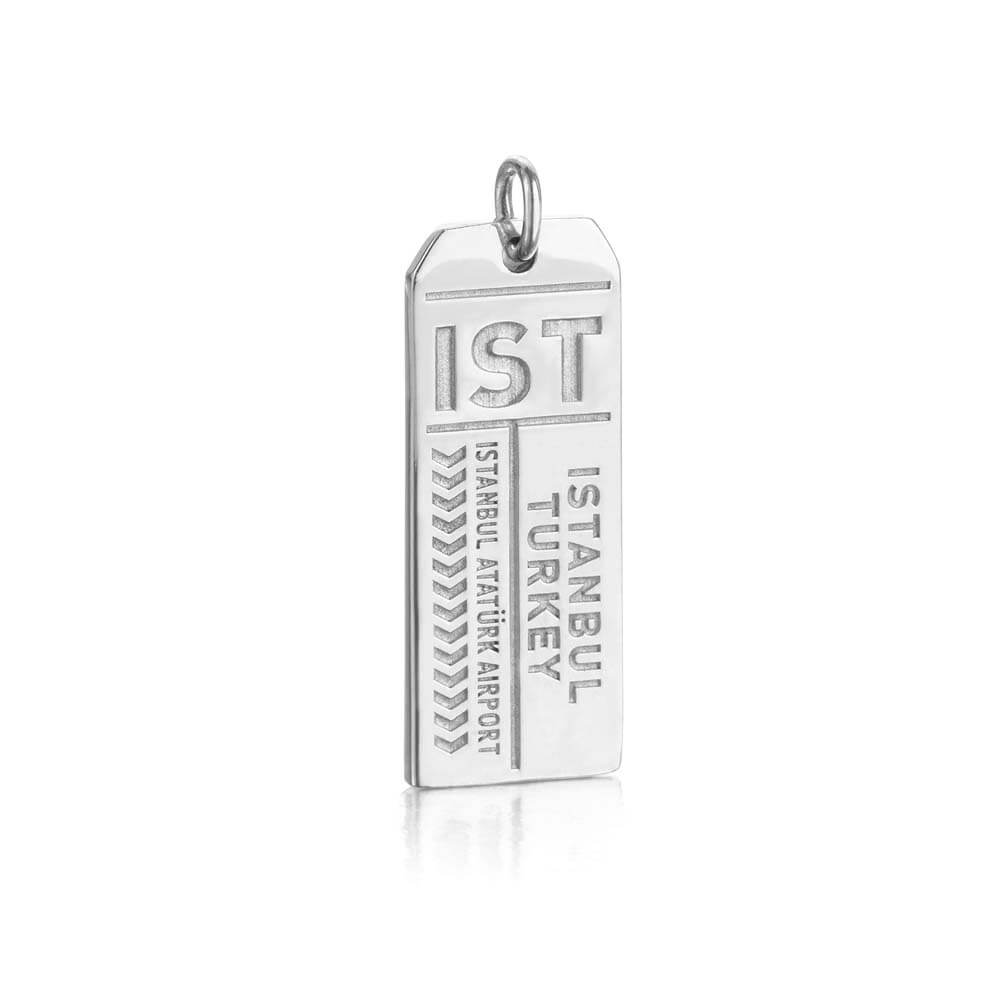 Silver Turkey Charm, IST Istanbul Luggage Tag - JET SET CANDY