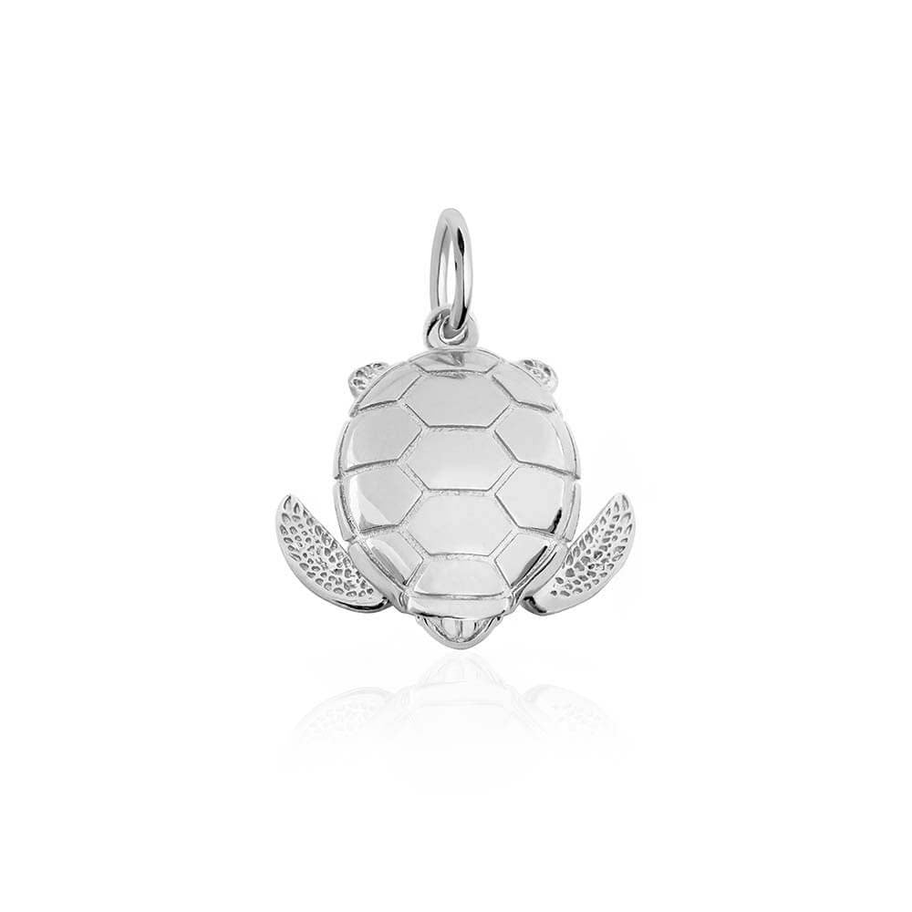 Large Sterling Silver Sea Turtle Charm (BACK ORDER-SHIPS EARLY MARCH) - JET SET CANDY