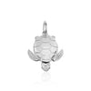 Large Sterling Silver Sea Turtle Charm - JET SET CANDY