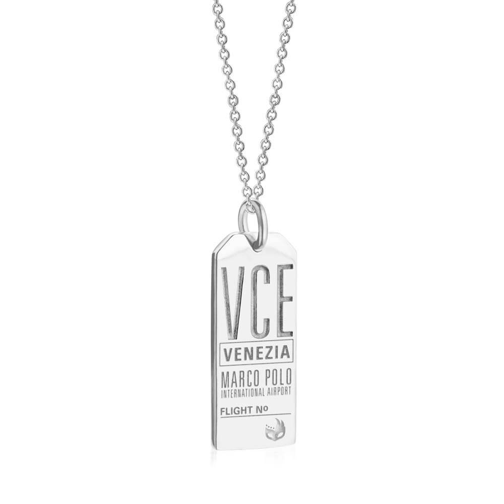 Silver Italy Charm, VCE Venice Luggage Tag - JET SET CANDY