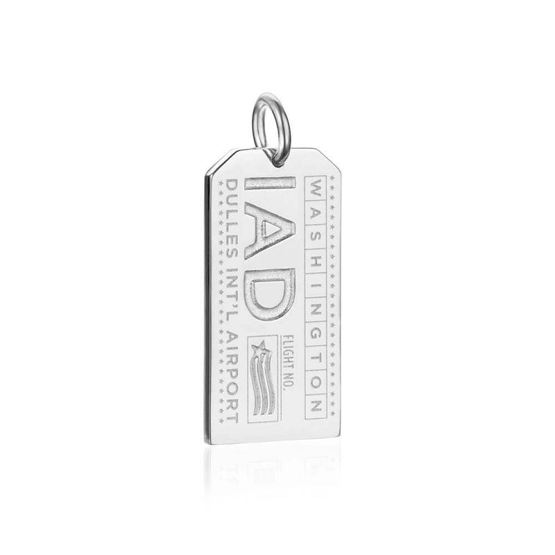 Silver USA Charm, IAD Washington Luggage Tag (SHIPS JUNE) - JET SET CANDY