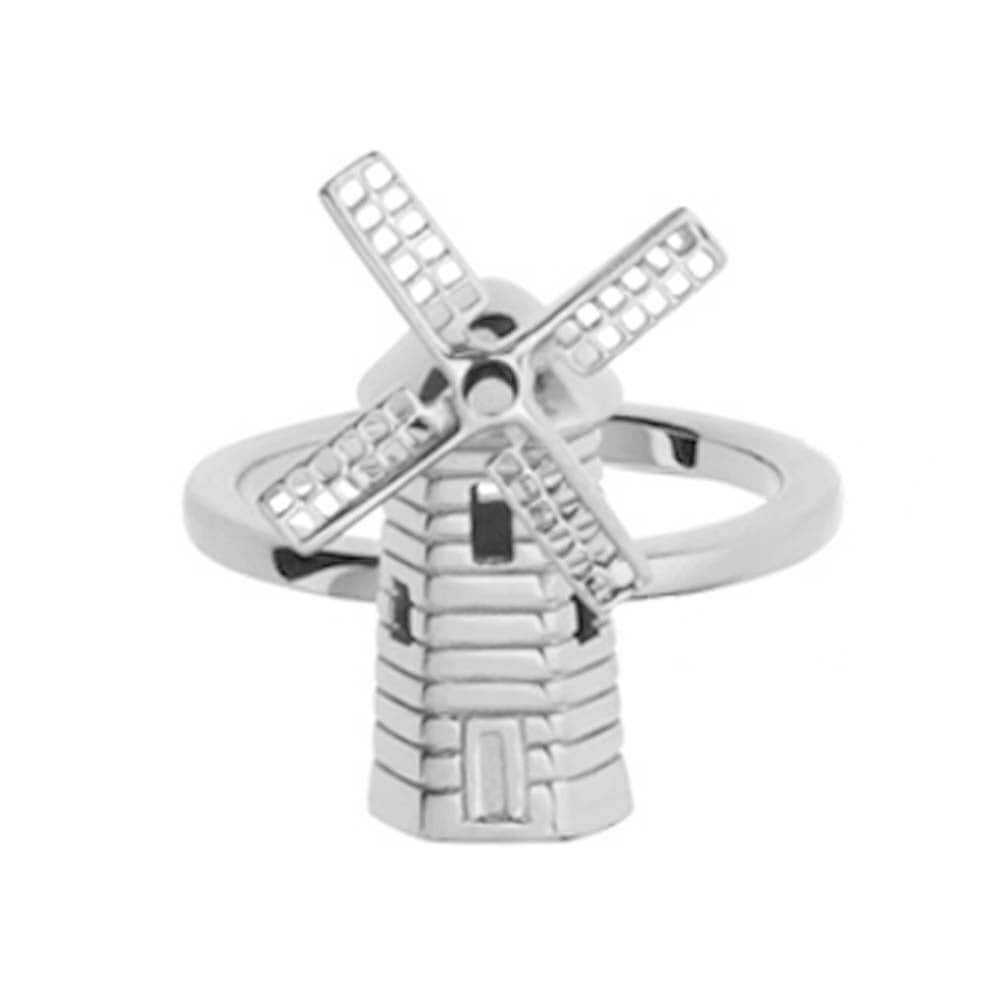 Silver Hamptons Hook Windmill Ring