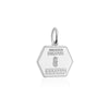 Sterling Silver Charm, Singapore Passport Stamp - JET SET CANDY