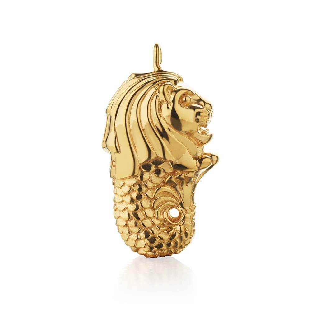 Gold Merlion Charm - JET SET CANDY