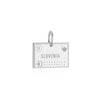 Sterling Silver Travel Charm, Slovenia Passport Stamp - JET SET CANDY
